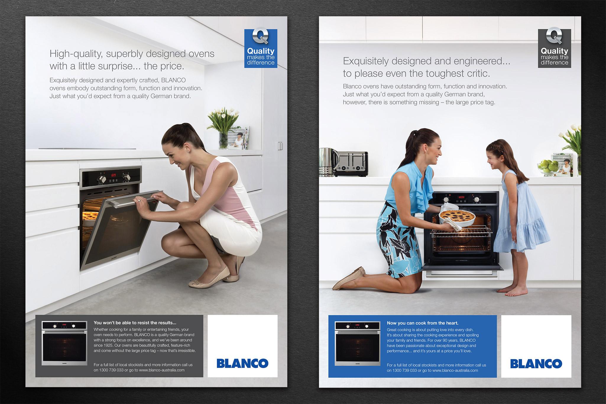 Attractive BLANCO Magazine Ads 2up